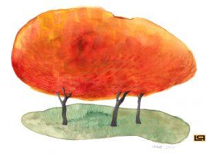 Autumn - aquarel